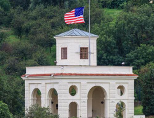 USA Embassy Prague – rekonstrukce historické zdi